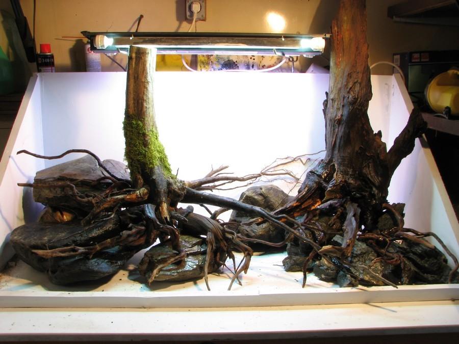 Table hardscape aquascaping